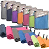SYOURSELF Microfiber Sports & Travel Towel- XL, L, M, S -Fast Dry, Lightweight, Absorbent, Soft - Perfect for Beach Yoga Fitn