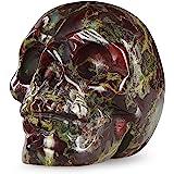 "Artistone 2.0"" Crystal Skull Statues,Hand Carved Human Skeleton Figurines Head Bone Art Sculpture Reiki Healing Stone Statue"