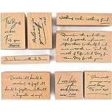 MissOrange『木製ゴム印セット』英語 クリエイティブスタンプセット クラフトカード スクラップブッキング 手帳用…