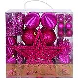 No One&U Christmas Balls Ornaments 67 Pcs for Xmas Christmas Tree Ball Christmas Tree Ornaments Hanging Ball for Holiday Wedd