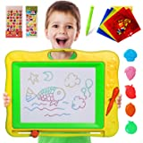Gamenote Large Magnetic Drawing Board Education Doodle Toys for Kids, Colorful Erasable Magnet Writing Sketching Pad for Todd