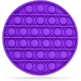 nixo Push Pop Bubble Fidget Sensory Toy, Circle, Pansy Purple, Pack of 1, Stimulating Pop It Fidget Toy, Perfect Fidget Pop i