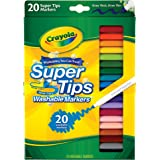 CRAYOLA 58-8106 Washable SuperTips Markers, 20 Vibrant Colours, Storage Box is Deal for The Classroom or Drawing at Home. Dur