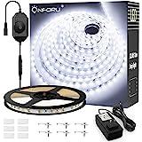 Onforu 33ft Dimmable LED Strip Lights Kit, 600 Units 2835 LEDs, 12V Under Cabinet Lighting Strips, 10m LED Ribbon, Non-Waterp