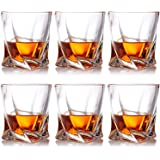 Farielyn-X Crystal Whiskey Glasses, Set of 6 Scotch Glasses, Tumblers for Drinking Bourbon, Scotch, Cocktail, Cognac, Irish W