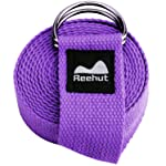Reehut Fitness Exercise Yoga Strap w/Adjustable D-Ring Buckle for Stretching, Flexibility and Physical Therapy