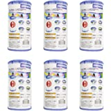 Intex 59900E-6 (29000E-6) Easy Set Pool Replacement Type A or C Filter Cartridge, 6-Pack