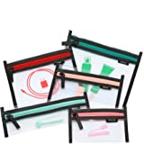 Loteli Jetsetter 5-in1 Clear Cosmetic Bag Set - Makeup Organizer Cases for Plane and Travel