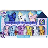 My Little Pony Friendship is Magic Toys Ultimate Equestria Collection 10 Figure Set Including Mane 6, Princesses, and Spike T
