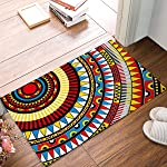 Rug Entrance Graffiti Elements Aztec Abstract Pattern Bathroom Doormat Carpet Indoor Mat Anti Skid Shag Shaggy Bath...