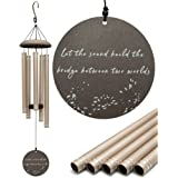 SOLFREE Sympathy Wind Chimes for Outside or Inside – Aluminum & Wood – Memorial Wind Chimes for Sympathy Gifts with Comfortin