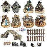 Fairy Garden Accessories-16pcs Fairy Garden Accessories Outdoor Miniature Garden Decorations Fairy Garden Supplies for Garden