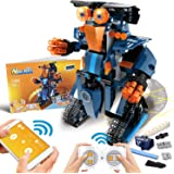 POKONBOY Building Blocks Robot Kit for Kids,App Controlled STEM Toys Science Engineering Kit DIY Building Robot Kit STEM Robo