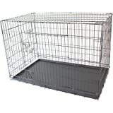"""48"""" XXL Double X-Large Pet Dog Crate Metal Folding Cage Portable Kennel House Training Puppy Kitten Cat Rabbit"""