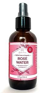 最高級 モロッコ ローズウォーター オーガニック スプレー タイプ バラだけの純粋な 化粧水 4oz 120ml