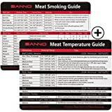 SANNO Meat Smoking and Temperature Guide with Magnet for Grill or Refrigerator,Best Barbecue Grilling Accessories (BBQ Guide