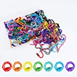 100pcs Ball Bead Chain 1.5mm Diameter 120mm Long Mixed Color Metal Adjustable Antiqued Ball Chain with Bead Connector Clasp f