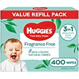 HUGGIES Baby Wipes Fragrance Free, 400 Wipes Refill Pack
