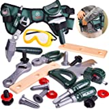 FunLittleToy Kids Tool Set-23 Pieces, Including Pretend Play Construction Tool Accessories and a Reinforced Kids Tool Belt