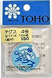 TOHO テグス 太さ約0.33mm×約10m巻 4号 スキ 6-11-4