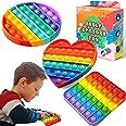 3 Pieces Push Pop Pop Bubble Sensory Fidget Toy , Autism Special Needs Stress Reliever Silicone Stress Reliever Toy,Autism Fi
