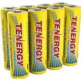 Tenergy Solla Premium Rechargeable NiMH AA Battery, 1300mAh Solar Batteries for Solar Garden Lights, Anti-Leak, Outdoor Durab