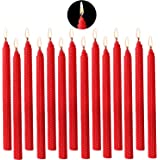 YIHANG Taper Candle Beeswax Handmade Taper Candles (Red)