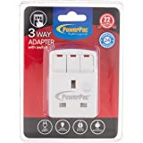 PowerPac PP8733 3 Way Adaptor with Switch