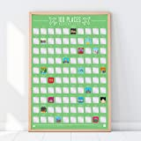 Gift Republic GR630001 100 Places-Scratch Off Bucket List Poster, Paper, Green