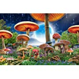 Agirlgle Jigsaw Puzzles 1000 Pieces for Adults for Kids, Mushrooms Jigsaw Puzzles - 1000 Pieces Jigsaw Puzzles,Softclick Tech