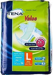 TENA Value, L, Case, 10ct (Pack of 8)