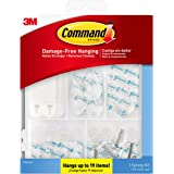 Command Clear Variety Kit, 17232-ES, Hangs Up to 19 Items, Great for Dorm Decor