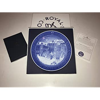 【即納】 ロイヤルコペンハーゲン イヤープレート 2018年【証明書/リーフレット付】 [並行輸入品]