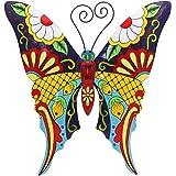 (Butterfly) - Juegoal Metal Wall Art Inspirational Butterfly Wall Decor Sculpture Hang Indoor Outdoor for Home, Bedroom, Livi