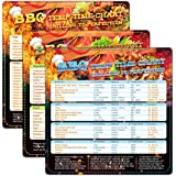 XIAOHE BBQ Temperature Time Chart Magnet Barbecue Cheat Sheet Guide Include Cooking Time, Temperature and Tips for 65 Common
