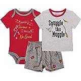 Harry Potter Onesies Bodysuit T-shirt and Short Pants 3PC Gift Set