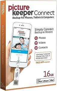 Picture Keeper(ピクチャーキーパー) CONNECT(コネクト) iphone usb スマートフラッシュドライブ 16GB [Apple MFI認証] - lightning usbメモリ 拡張メモリ・バックアップ、Apple IOS・Android・MAC・PC用