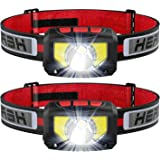 TINMIU Rechargeable LED Headlamp Flashlight, 2-PACK Super Bright Motion Sensor Head Lamp, IPX5 Waterproof, Bright White Cree