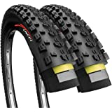 Fincci Pair 27.5 x 2.25 Inch 57-584 Foldable 60 TPI All Mountain Enduro Tires with Nylon Anti-Puncture Protection for MTB Hyb