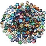 ULTNICE モザイクタイル ガラスモザイクタイル ガラス製品 DIY 手作り 手工芸品 おしゃれ 芸術 知育玩具 10mm 200個