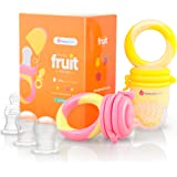 NatureBond Baby Food Feeder/Fruit Feeder Pacifier (2 Pack) - Infant Teething Toy Teether in Appetite Stimulating Colors | Bon