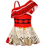 AmzBarley Girls One-Piece Swimwear Bathing Suit Kids Adventure Outfit Swimsuits Age 1-10 Years