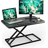 Standing Desk Converter Height Adjustable Sit to Stand Desktop Desk Gas Spring Riser, Perfect Workstation 28.5 inches for Lap
