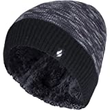 Heat Holders - Ladies Garter Knitting Pattern Thermal Knitted Beanie Hat for Winter with Fleece Lining