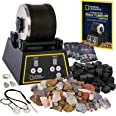 NATIONAL GEOGRAPHIC Professional Rock Tumbler Kit- Advanced features include Shutoff Timer and Speed Control - 907 Gram Barre
