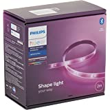 Philips Hue LightStrip Plus Dimmable LED Smart Light - Two Metre Base Kit (Compatible with Bluetooth, Amazon Alexa, Apple Hom