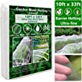 Garden Netting, Plant Covers 10x33 Ft Ultra Fine Mesh Protection Netting for Vegetable Plants Fruits Flowers Crops Greenhouse