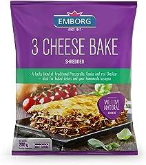 Emborg Natural Shredded 3 Cheese Bake, 200g - Chilled