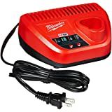 Milwaukee Genuine OEM 48-59-2401 M12 Lithium Ion 12 Volt Battery Charger w/ LED Indicating