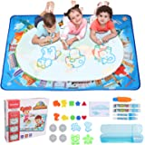 Hautton Magic Doodle Mat, 120 x 90 cm, for Kids Toddlers Boys Girls(Age 3 4 5 6 7 8 Years), Large Water Painting Drawing Mat,